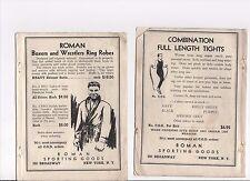 Anello Romano Accappatoio & Collant di formazione 2 x 1936 Vintage Pubblicità PUGILATO RECORD