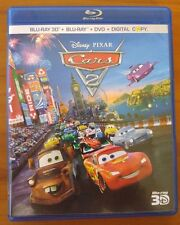 Cars 2 (3D Blu-ray, 2 2D Blu-ray, and DVD, 2011, 5-Disc Set) - No Digital
