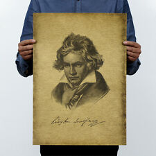 Poster Kraft Vintage Retro Pin up Wall Decor coffee Shop classical Beethoven