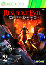 XBOX 360 Resident Evil Operation Raccoon City Video Game Multiplayer Online HD