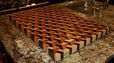 3D Super Q*Bert End Grain Cutting Board EXTRA LARGE