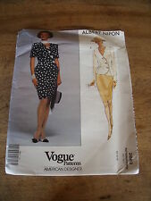 "VINTAGE  ""VOGUE CREATION ALBERT NIPON  TAILLEUR CROISE    T  12/14/16"