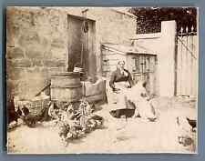 France, Croissy, La Patronne et son chien  Vintage citrate print.  Tirage citr