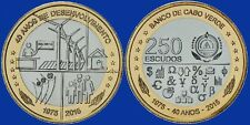 CAPE VERDE CABO NEW 250 ESCUDOS 2015 40 YEARS INDEPENDENCE AFRICA BIMETAL UNC