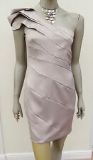*LESS THAN HALF PRICE* GOLD STRETCH SATIN ONE SHOULDER DRESS - LIPSY - 10 - BNWT