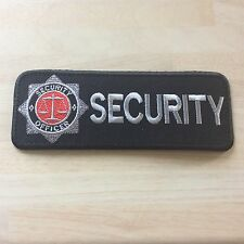 Security Officer Badge (iron on) Rectangular version