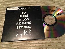 ROLLING STONES - SPANISH CD SINGLE SPAIN ANGIE 1 TRACK PROMO CARD SLEEVE
