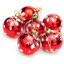 New 6pcs Christmas Tree Decorations Balls Baubles Party Wedding Home Ornament DS