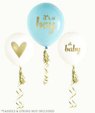 Set of 3 Metallic Gold Foil Baby Shower Balloons Baby Shower Decorations