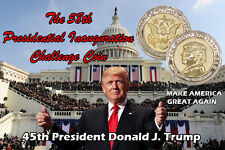 Donald Trump Coin COMMEMORATIVE INAUGURATION 2017 in 24K GOLD/925 Silver Plated
