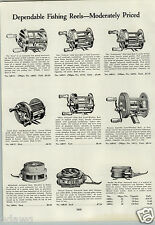 1933 PAPER AD Martin Fly Wate Fishing Reel Meisselbach Bronson Superlite