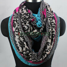 Fashion Women Leopard Multicolor Infinity Circle Loop Scarf Snood Ladies Scarves