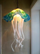 Hand Blown Glass Chandelier - Jellyfish Light - Art Glass Lighting - Chandelier