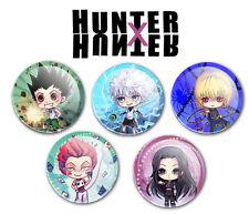 Hunter x Hunter Buttons Pins - Original Chibi Art