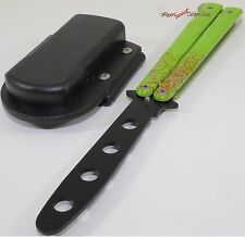 Zombie Biohazard Balisong Practice Training Butterfly Style Knife + Sheath