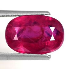 3.20 Cts Natural Top Blood Red Ruby Oval Cut Certified Mozambique Rare Gemstone