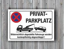 Privatparkplatz wetterfest Halteverbot Hinweisschild Parkverbotsschild 3mm Alu
