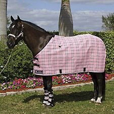 "New Kensington horse fly / protective sheet  70"" black plaid"