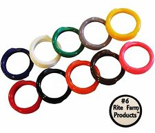 "10 MULTI COLORED #6 LEG BANDS 3/8"" CHICKEN POULTRY CHICK QUAIL PIGEON DUCK GOOSE"