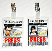 Superman Clark Kent Lois Lane ID Badge Daily Planet Cosplay Costume Comic Con