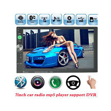 "7"" 2 Din In-dash Bluetooth HD Car Stereo MP3 Radio Player Steering Wheel Control"