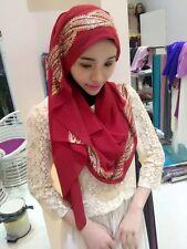 New Women Rhinestone Muslim Long Scarf Hijab Islamic Shawls Arab Shayla Headwear