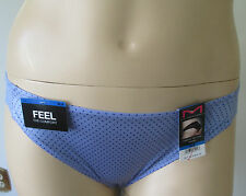 NWT Women Panties Private Auction 8/XL Tanga Maidenform 40159/PCD Blue Polka Dot