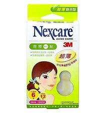 3M Nexcare Acne Care Pimple Zit Stickers 40% Ultrathin Patch Set Of 18 Pieces