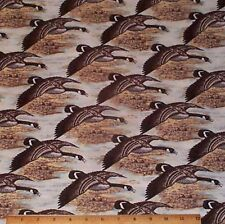 "Canadian Geese Fabric by Yard 100% Cotton ""Nostalgic Hunt"" Wildlife Riverwoods"