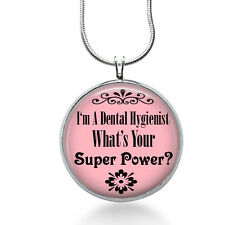 Dental Hygienist Necklace, Dentist Pendant, super power, gifts for women,jewelry