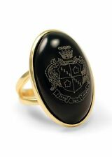 Zeta Tau Alpha Sorority Duchess Ring - 14k Gold Plated & Black Onyx- New!!!