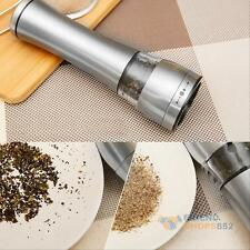 Stainless Steel Electric Kitchen Spice Sauce Salt Pepper Mill Muller Grinder