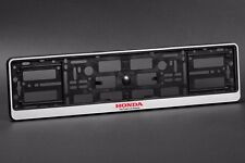 2 x Honda Euro License Number Plate Frame Holder