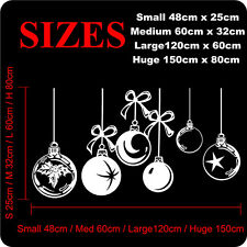 XMAS WALL STICKERS DECAL Christmas Shop Window Stickers BAUBLES STICKERS N88