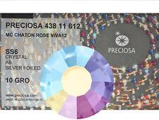 1440 Preciosa Genuine Czech Crystals 6ss Crystal AB Viva Flatbacks,2mm,ss6, nail