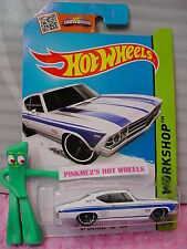 Case C 2015 i Hot Wheels '69 CHEVELLE SS 396 #231☆White/Blue; mc5☆Muscle Mania