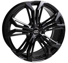 18x8 Enkei Rims VORTEX5 5x114.3 +38 Black Rims Fits Veloster Mazda Speed 3