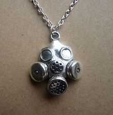 Steampunk Silver Plated Gas Mask  Necklace New in Gift Bag Cyber Horror