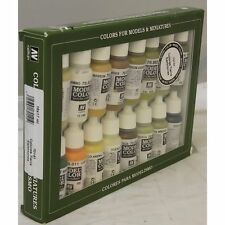 Vallejo Acrylic Paint Set VAL70141 Earthtones 16 X Colour Acrilic Paint Set
