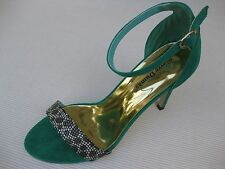 Pierre Dumas Womens Shoes NEW $45 Reina Turquoise Ankle Strap Sandal 10 M