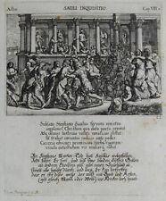 1679 Bibel Biblia Verfolgung der Gemeinde in Jerusalem Kupferstich Küsel