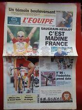 journal  l'équipe 04/07/96 CYCLISME TOUR DE FRANCE 1996 SAUGRAIN HEULOT