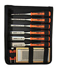 Bahco Wood Chisel Set 424P - 6 Bahco Wood Chisels, Sharpener, Guide & Carry Case