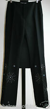 "NEW SPORTMAX Black Cashmere Trousers/Wool Pants Small/UK6-8/FR36/US4 W28""/L33"""