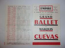 PROGRAMME SAISON 1953 THEATRE DE L'EMPIRE / GRAND BALLET DU MARQUIS DE CUEVAS