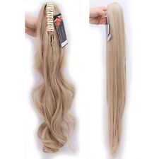 "24""26""Real Jaw Claw on Clip in Ponytail Extension Hair Piece Remy Human Style TP"