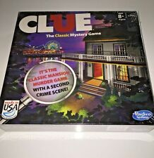 CLUE The Classic Mystery Game 2 Sided Game Board Mansion Boardwalk NEW SEALED