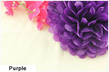 4Inch Purple Tissue Paper Pom Poms Flower Ball Wedding Birthday Party Decoration