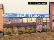 """*O Scale Scratch Built """"Your Self Storage"""" Pittsburgh Building Flat *MTH Lionel*"""
