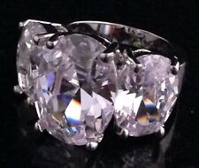 Outstanding Joan Rivers 3 Stone Simulated Diamond Cocktail Ring